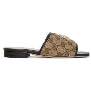 Beige GG Supreme Jolie Sandals