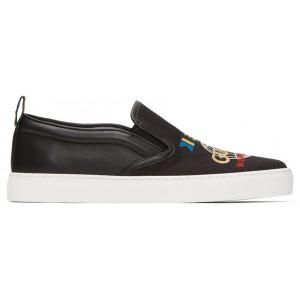 Black Dublin Slip-On Sneakers