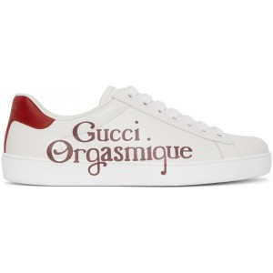 White 'Gucci Orgasmique' New Ace Sneakers