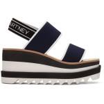 Navy Platform Sporty Sandals
