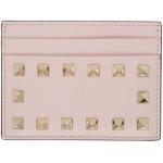 Pink Valentino Garavani Rockstud Card Holder