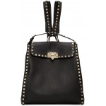 Black Valentino Garavani Rockstud Backpack