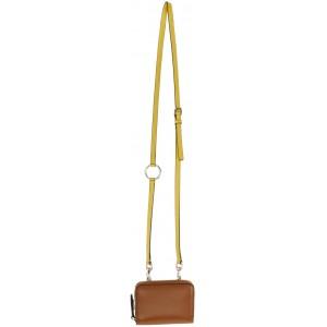 Brown Valentino Garavani VLogo Neck Wallet Bag