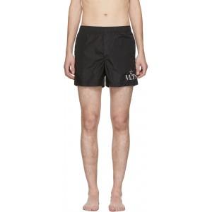 Black VLTN Star Swim Shorts