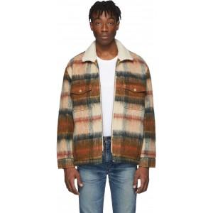 Brown Wool Sherpa Ranch Coat
