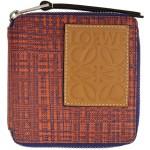 Orange & Blue Square Zip Wallet