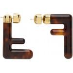 Brown Medium FF Earrings