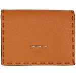 Orange Leather Beads Wallet