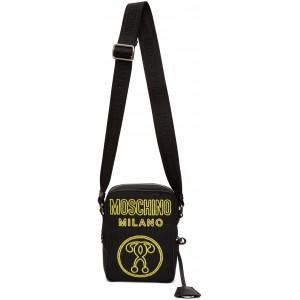 Black Neon Logo Messenger Bag