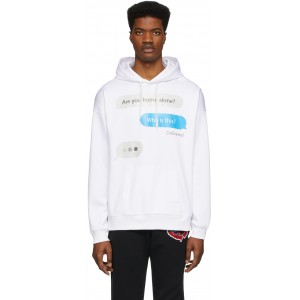 White Chat Hoodie