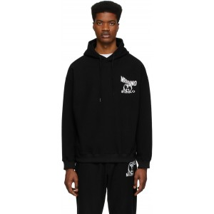 Black Reverse Double Question Marks Hoodie