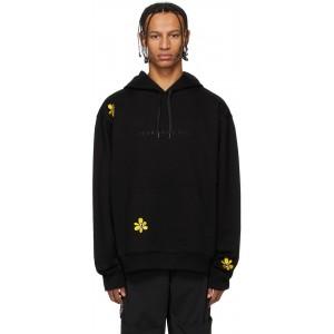 SSENSE Exclusive Black Embroidered Hoodie