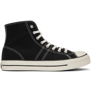 Black Lucky Star High-Top Sneakers