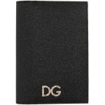 Black Dauphine Crystal Passport Holder