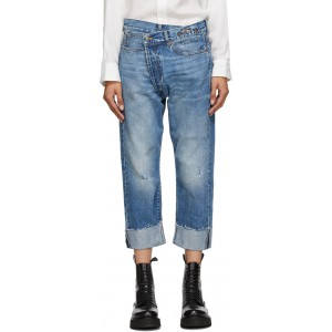 Blue Cross-Over Jeans