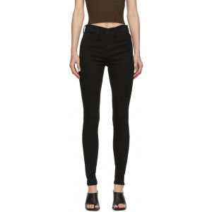 Black 720 High Rise Super Skinny Jeans