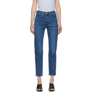 Blue Wedgie Fit Ankle Jeans