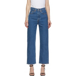 Blue Ribcage Straight Ankle Jeans