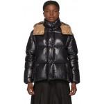 Black & Brown Down Parana Coat