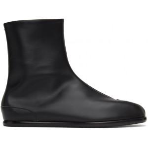 Black Flat Tabi Boots