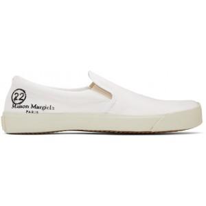 White Slip-On Tabi Sneakers