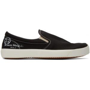 Black Slip-On Tabi Sneakers