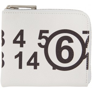 White Logo Square Zip Coin Pouch