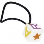 Multicolor Toy Blocks Hair Tie