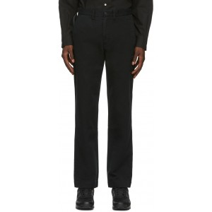 Black Bedford Trousers