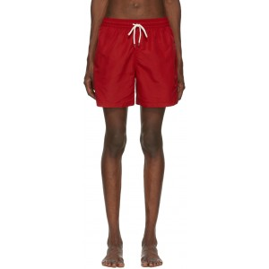 Red Traveler Swim Shorts