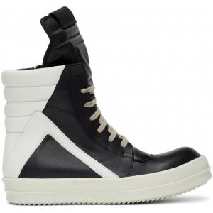 Black & White Geobasket Sneakers