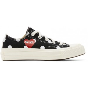Black Converse Edition Polka Dot Heart Chuck 70 Low Sneakers