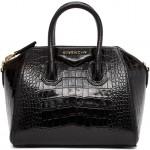 Black Croc Mini Antigona Bag