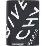 Black & White Refracted Logo Compact Wallet
