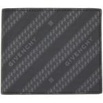 Black & Grey Diagonal Logo Bifold Wallet