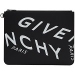 Black Large Refracted Logo Pouch