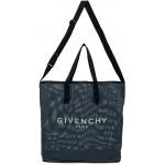 Blue Mesh Packable Bag