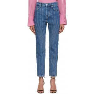 Blue Girlfriend Twist Jeans