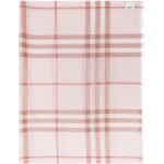 Pink Check Gauze Giant Scarf