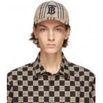 Beige Vintage Check TB Baseball Cap