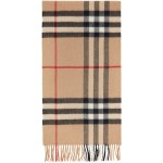 Brown Giant Check Scarf