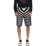 Black & White Wool Janson Shorts