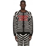 Black & White Jacquard Zebra Sweater