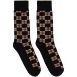 Black Check Gentleman Socks