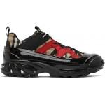 Black & Beige Check Arthur Sneakers