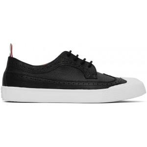 Black Leather Longwing Sneaker Brogues