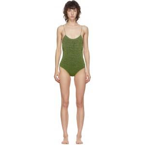 Green Lurex Lumiere One-Piece Swimsuit