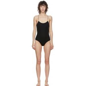 Black Lurex Lumiere One-Piece Swimsuit