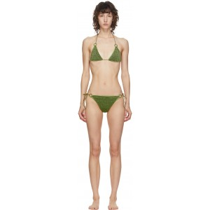 Green Lurex Micro Ring Bikini
