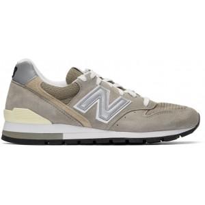 Grey & Beige Made In US 996 Sneakers